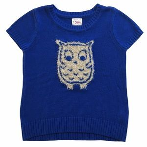 💙3/$30 Justice Girls Blue Owl Sweater Size 14